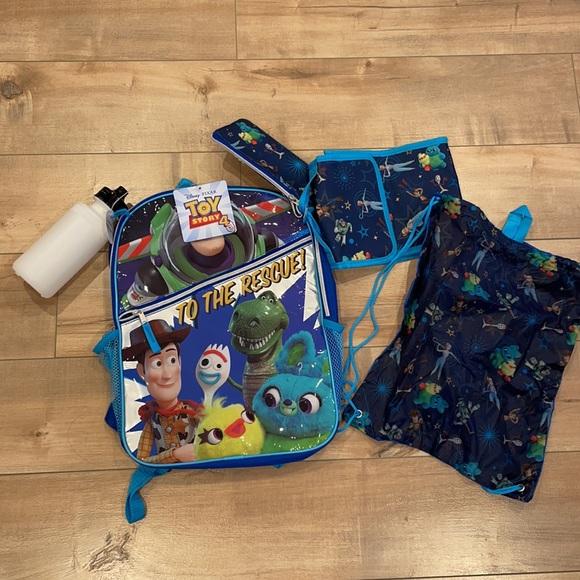 Disney Pixar Toy Story 4 Backpack 5 Piece Set NWT